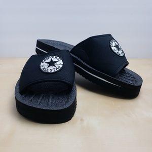 b6d54fa96efa Converse Black Slides Sandals Women s Size 9